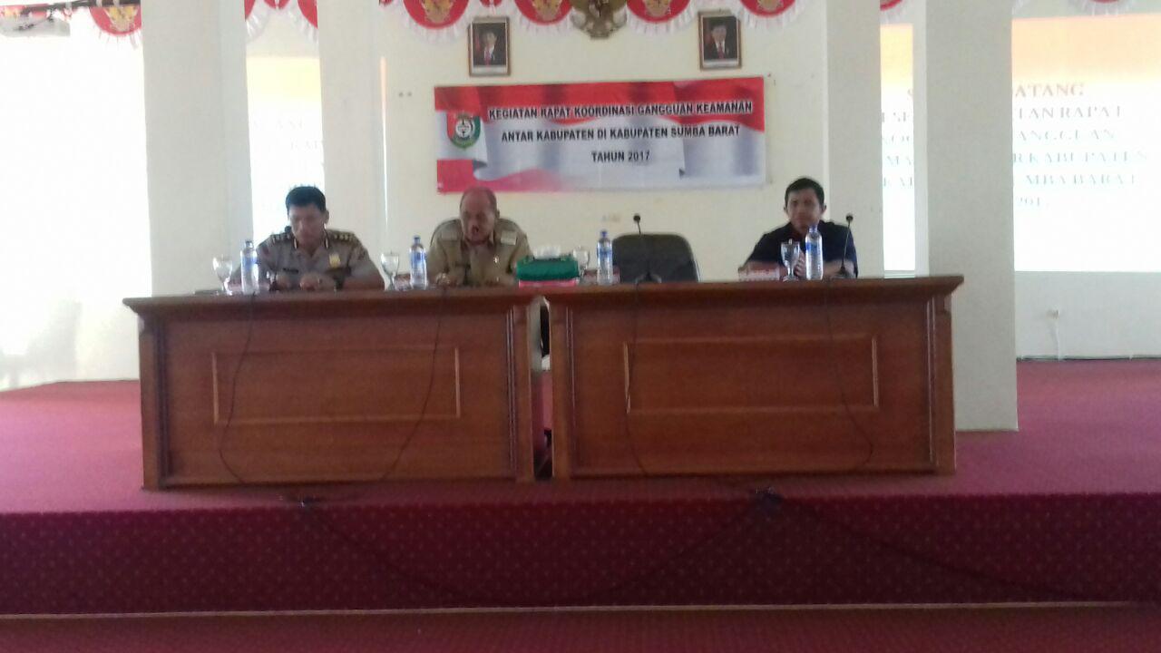 Rakor Gangguan Keamanan antara 3 Kabupaten oleh Bupati, Kapolres dan Dandim 1613 Sumba Barat