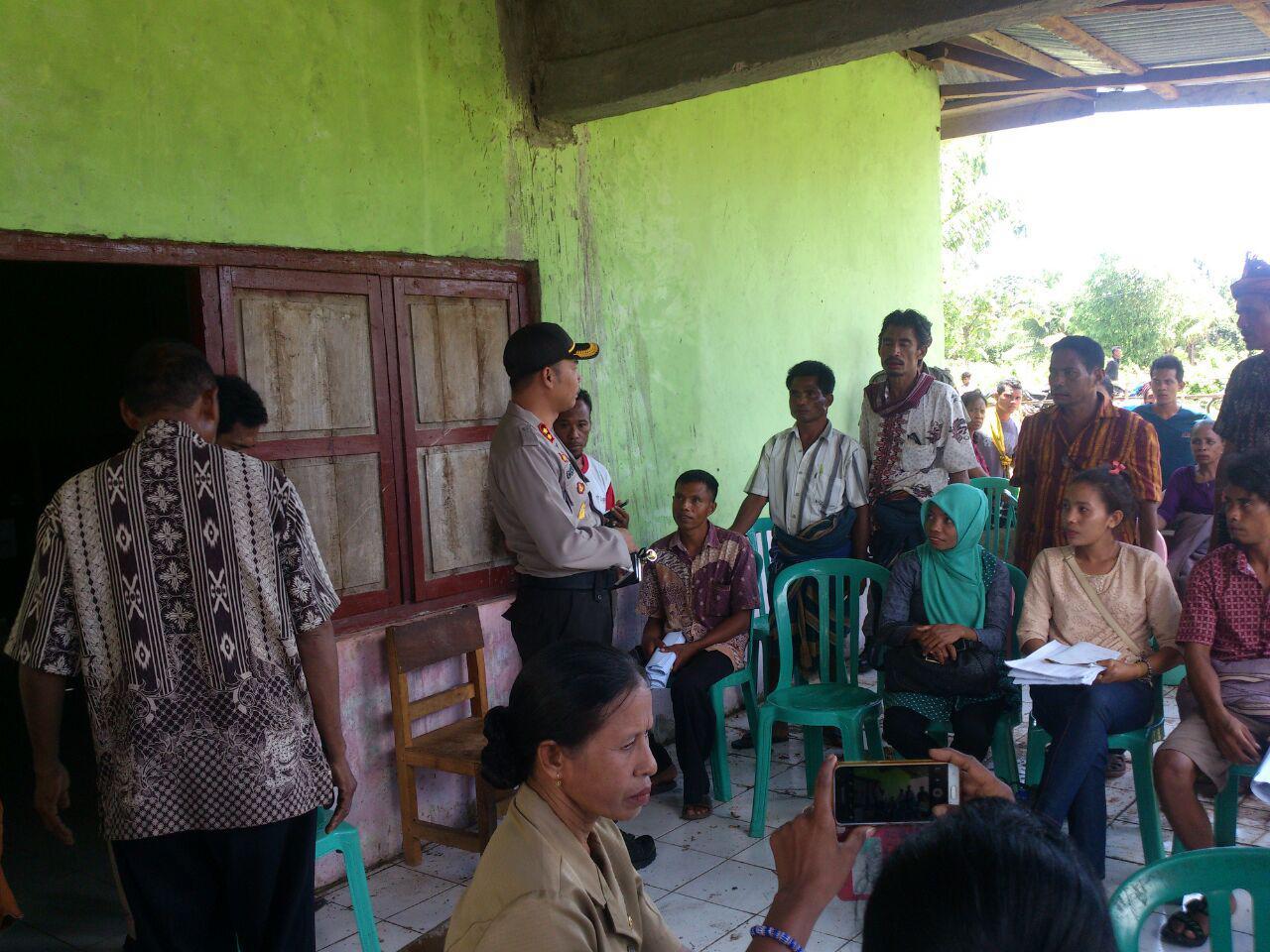 Kapolres Pimpin Pengamanan Pemilihan Ulang Kepala Desa Wura Homba
