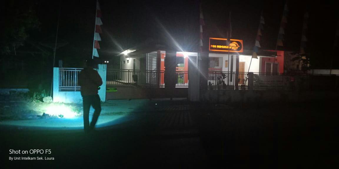 Patroli Tengah Malam Ala Polsek Loura Tekan Angka Kriminalitas