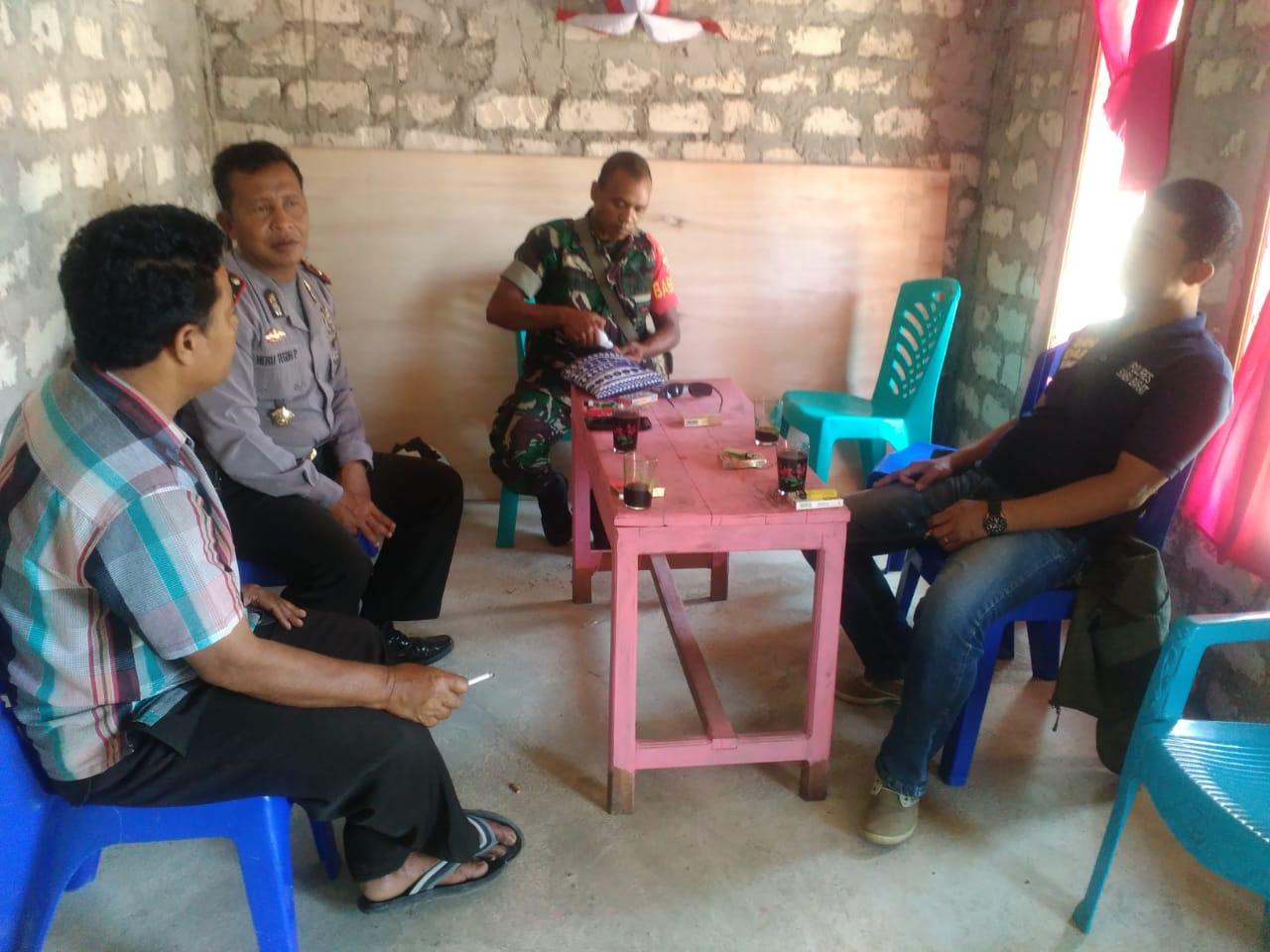 Jaga Keamanan & Ketertiban Wilayahnya, Kapolsek Loli Sambang ke Desa Wee Patola