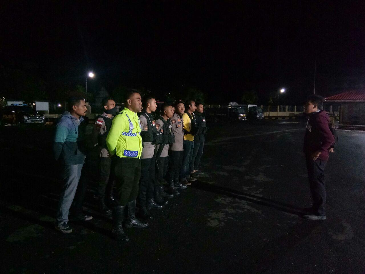 Tim Patroli Malam Mengamankan 7 Unit Kendaraan Bermotor dan 1 Bilah senjata Tajam