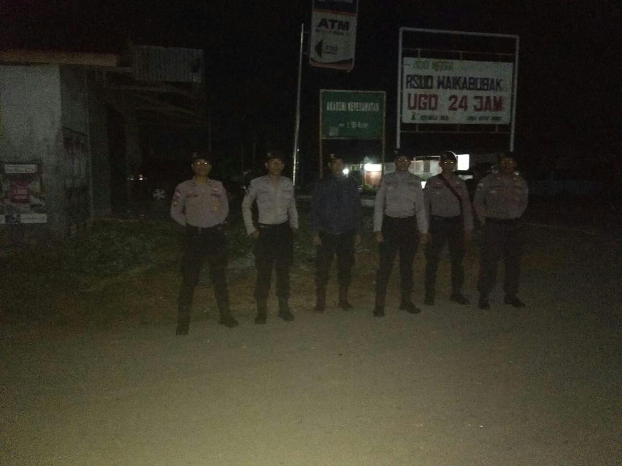 Upaya Memberikan Keamanan dan Kenyamanan Masyarakat, Patroli Malam Terus Dilakukan