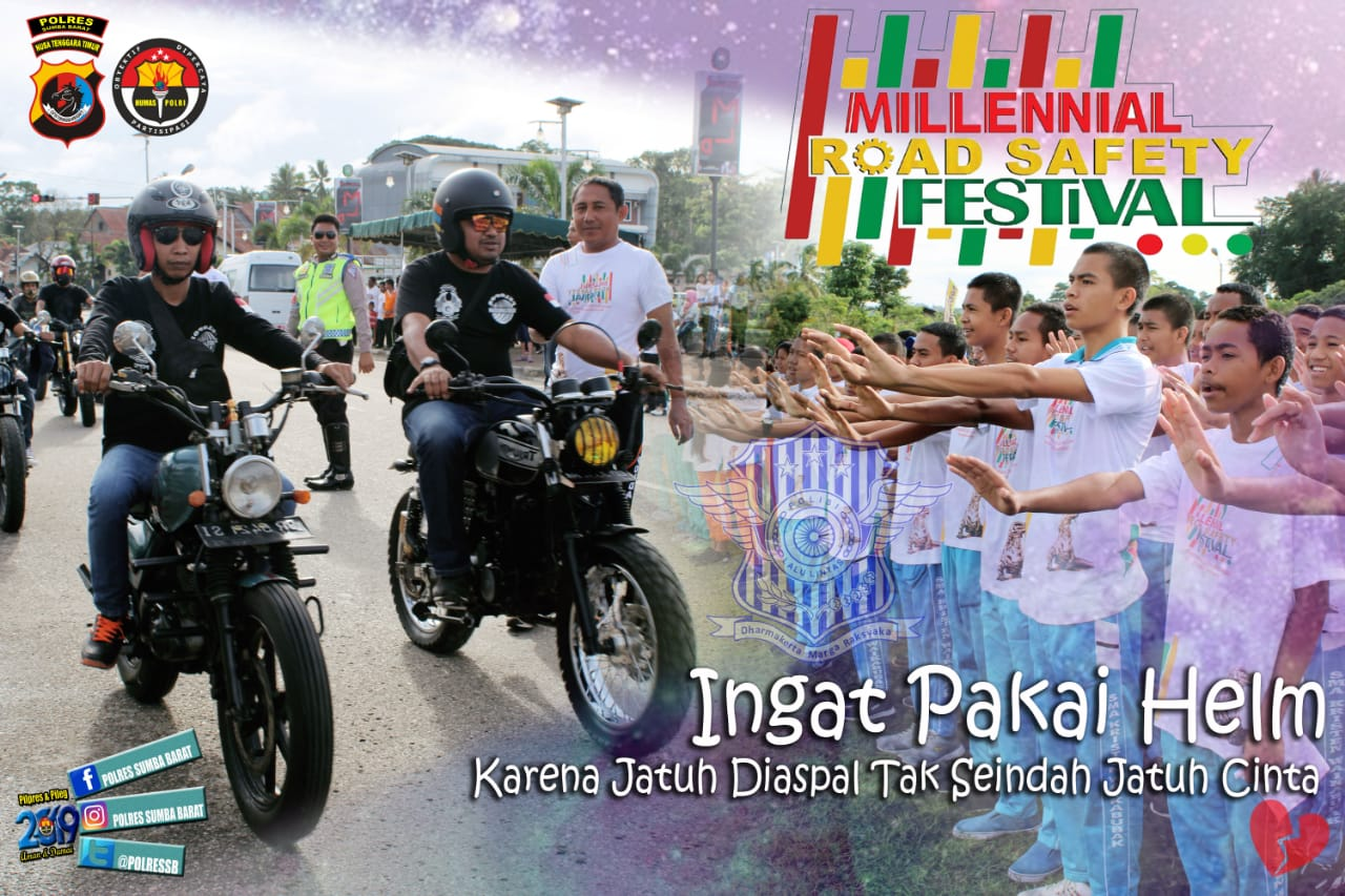 Car Free Day (CFD) Millennial Road Safety Festival 2019 oleh Polres Sumba Barat