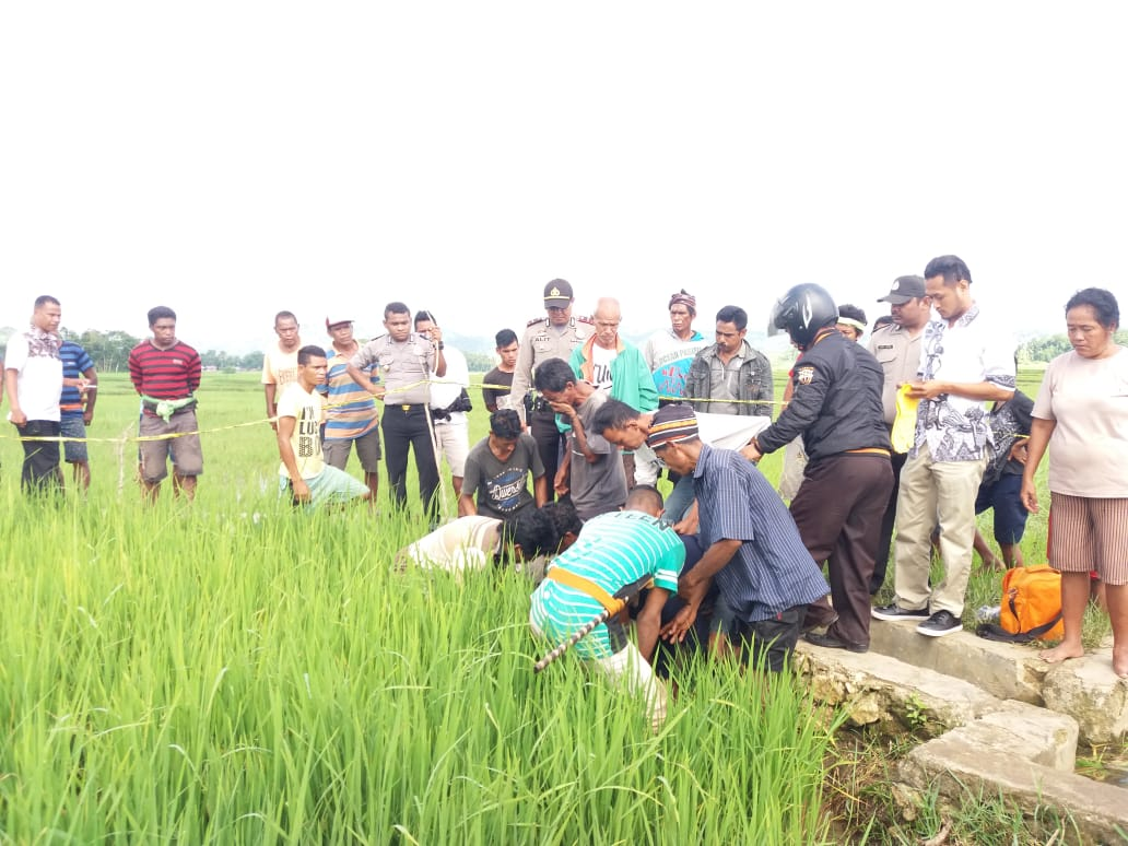 Penemuan Mayat di Selokan Sawah Pagi Tadi Gegerkan Desa Dede Pada