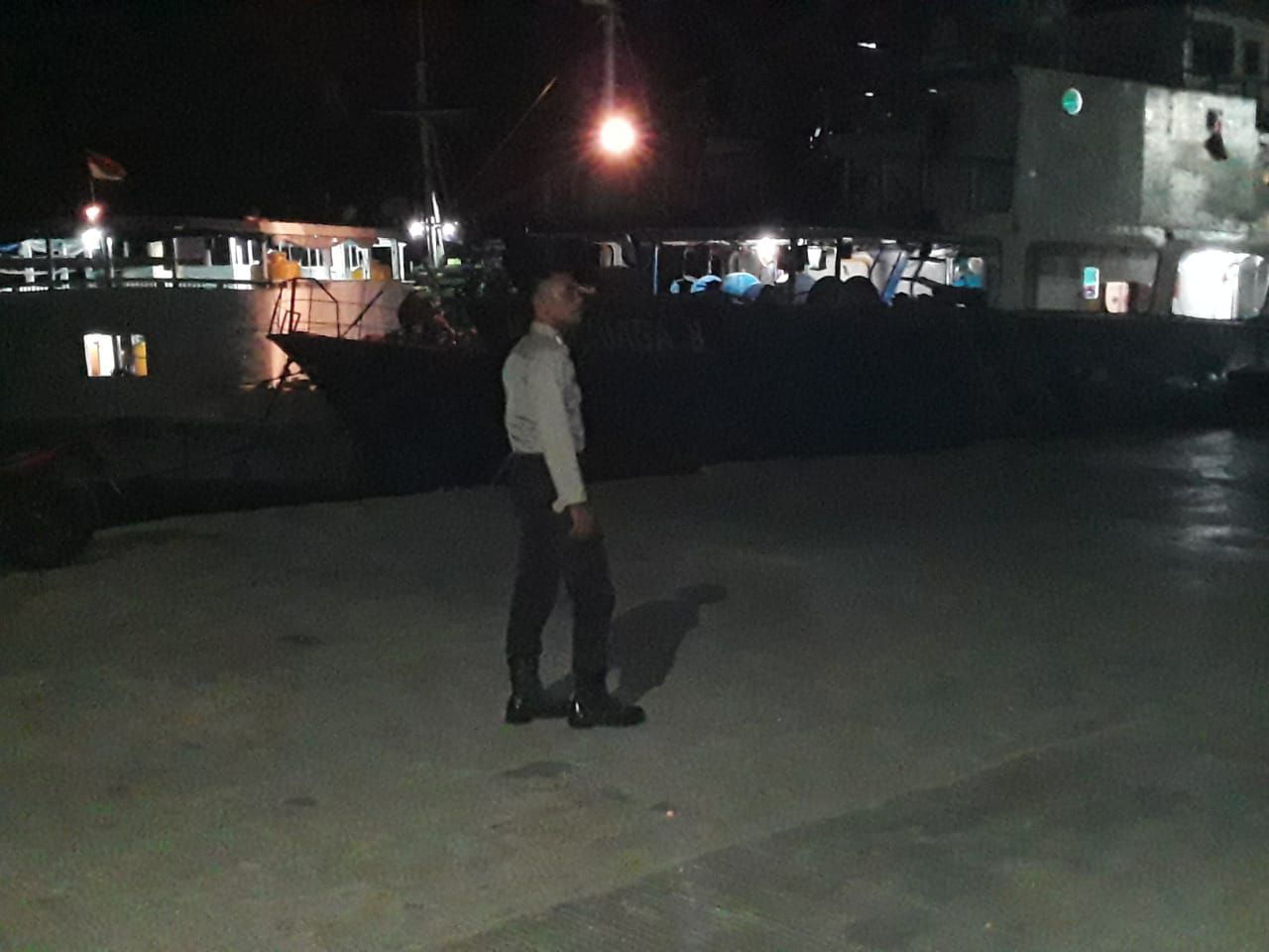 Polsubsektor KP3 Laut Gelar Patroli Malam