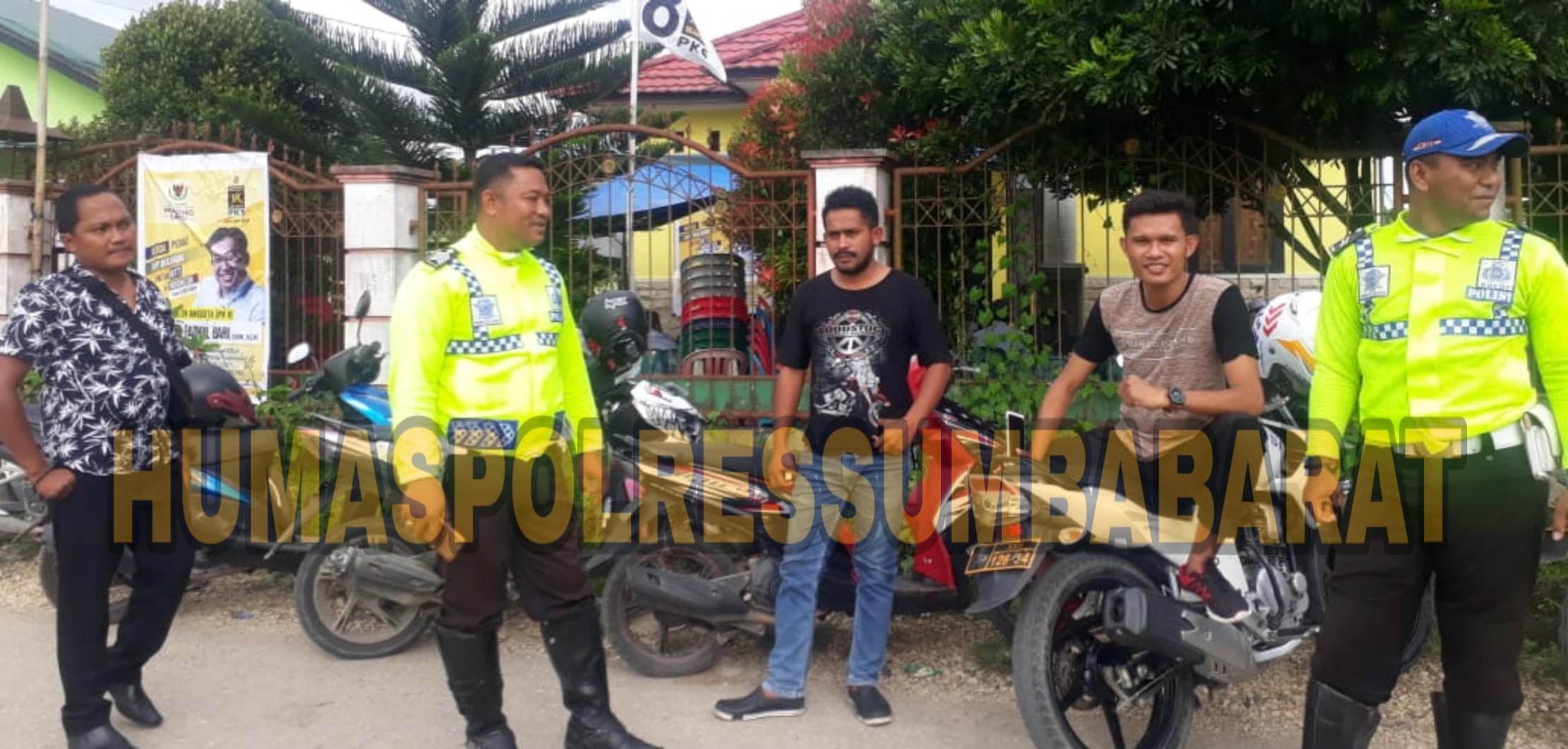 Bersama 20 Personil Gabungan, KBO Reskrim Pimpin Pengamanan Kampanye Calon Legislatif