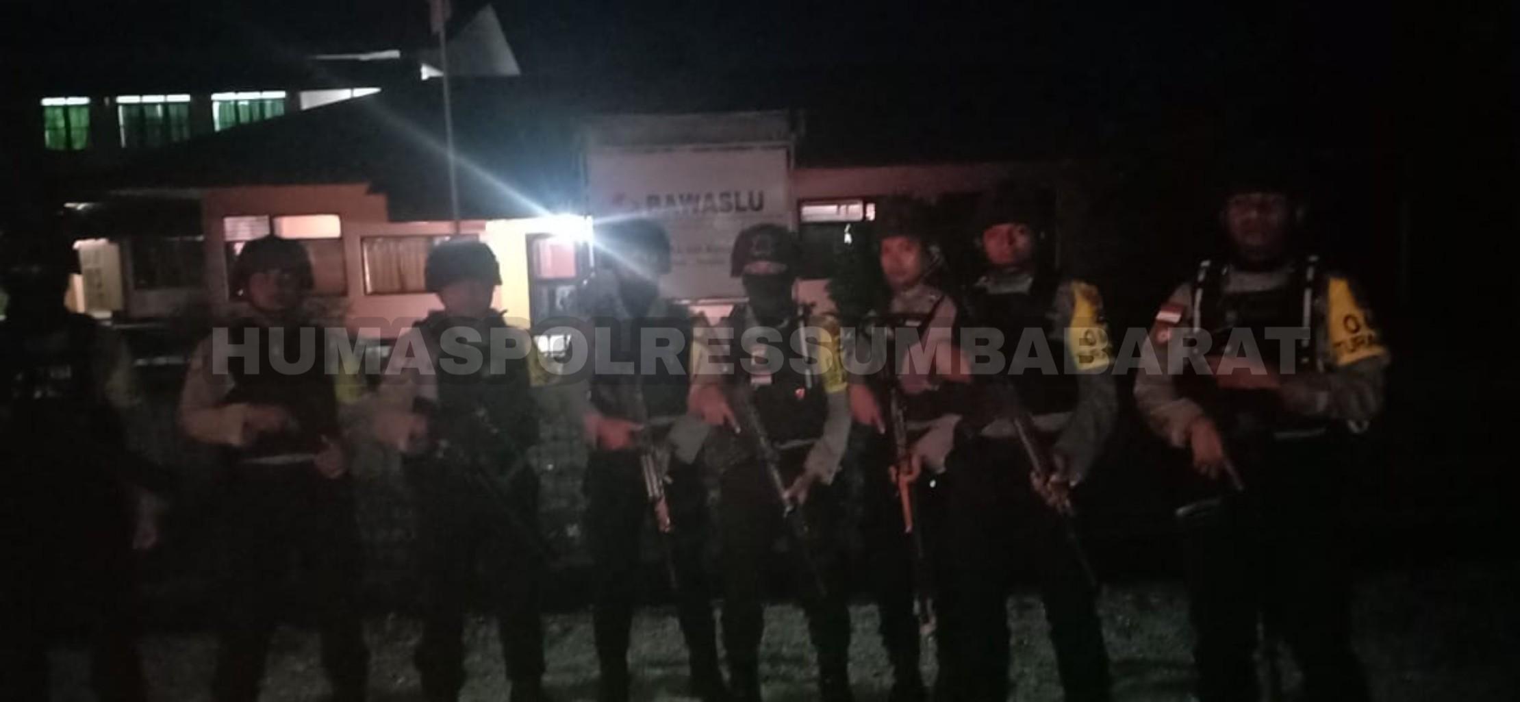 Pastikan Gelaran Pemilu Berlangsung Kondusif, Tim Patroli Mobile Kembali Menyusuri Wilkum Polres SB