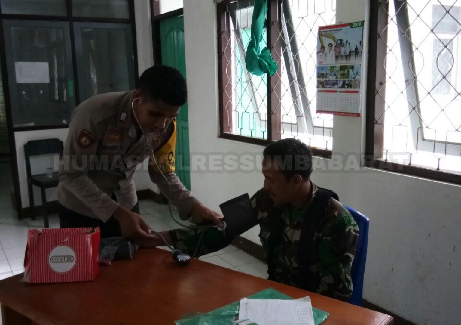 TNI-POLRI | Pastikan Stamina Personil, Tim Urkes Polres SB Patroli Kesehatan ke Kantor PPK