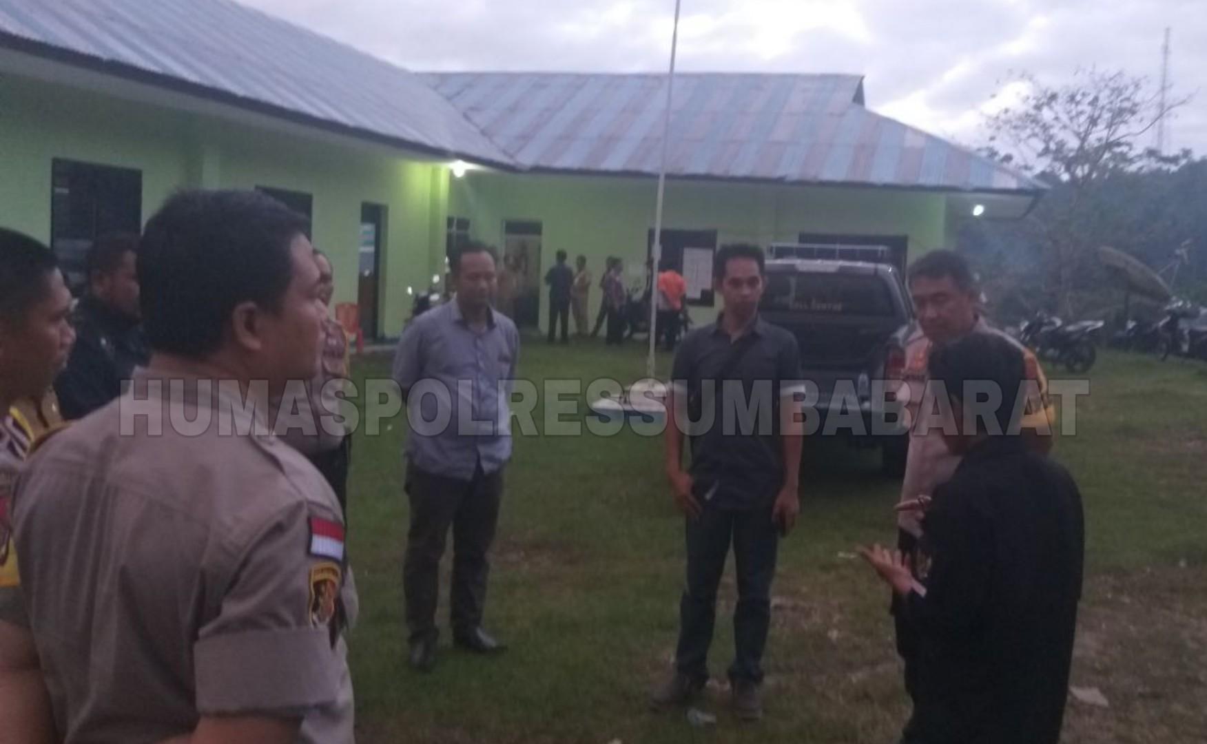 Kapolres Pantau PPK dan Cek Kondisi Kesehatan Personel di Kabupaten Sumba Barat Daya