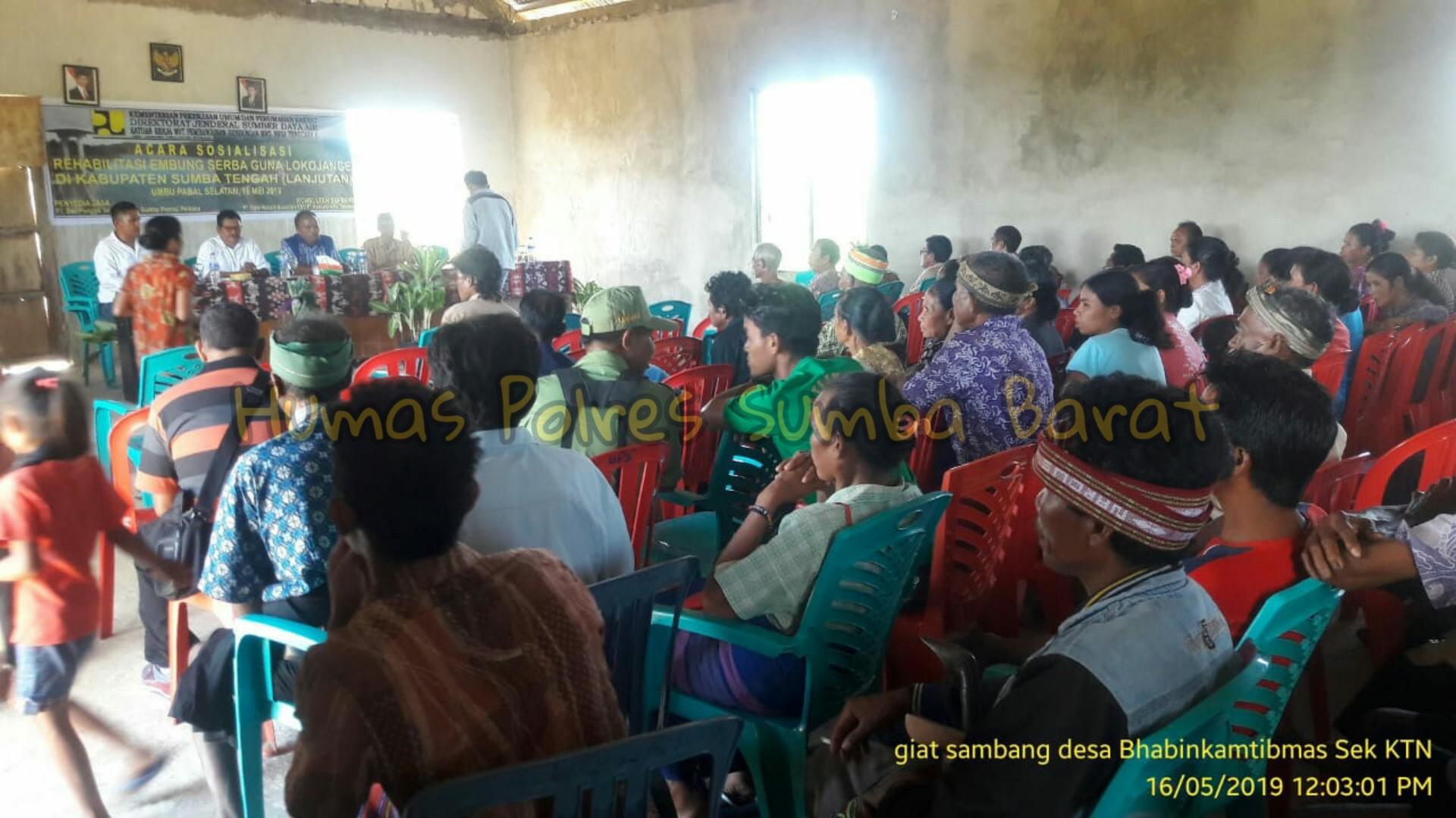 Bhabikamtibmas Menghadiri Giat Sosialisasi Di Desa