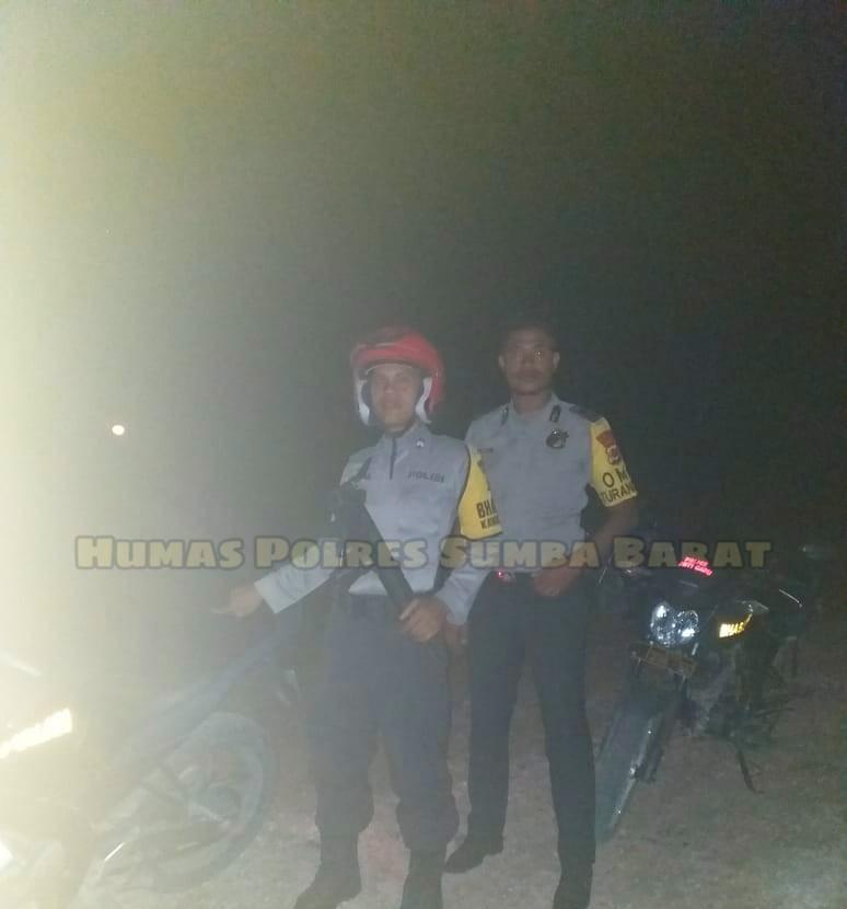 Demi Ciptakan Situasi Kamtibmas Polsek Mamboro Tingkatkan Patroli Malam