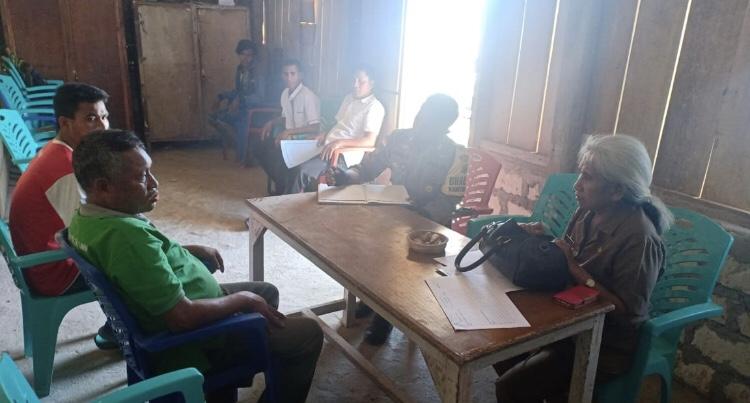 Bersama Tim Satgas Dana Desa, Brigpol Andreas Pantau Pembangunan Rumah Mandiri & Rumah Sehat
