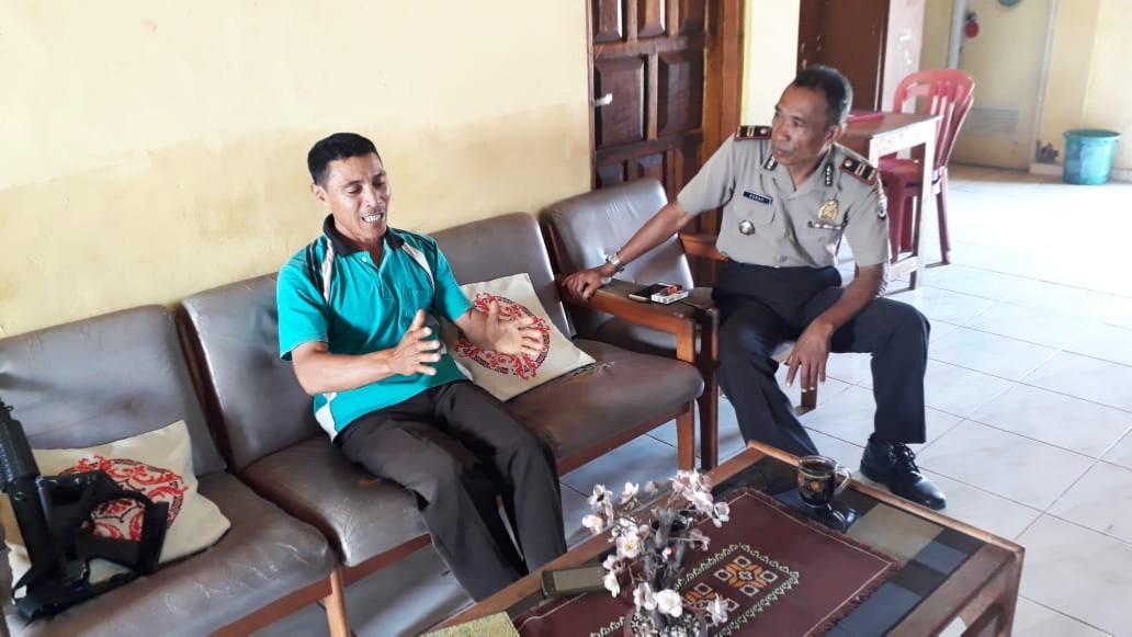 Sambang PT Timor Mitra Niaga Gaura Kapolsek Lamboya Sampaikan Pesan Kamtibmas
