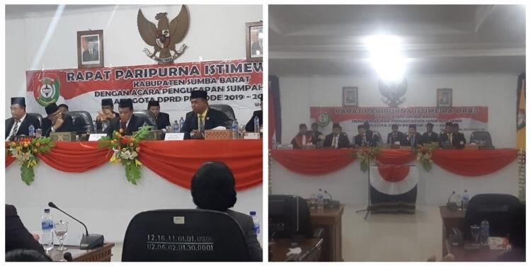Gelaran Rapat Paripurna Istimewa Pengucapan Sumpah/Janji Anggota DPRD Kabupaten Sumba Barat Periode 2019-2024