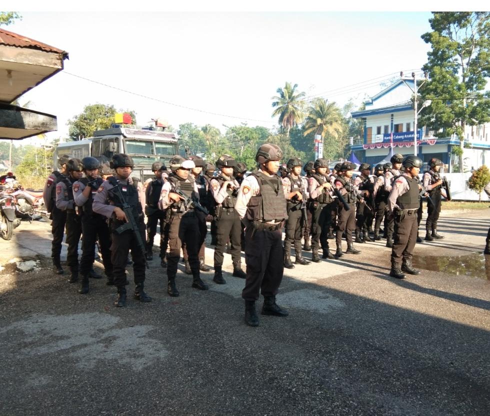 Pilkades   Kabag Ops Pimpin Pengecekan Personil Sebelum Menuju TPS