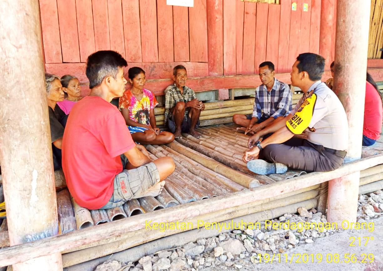 Bripka Arjiko Sambang Desa Binaan Dan Berikan Penyuluhan Kepada Warganya