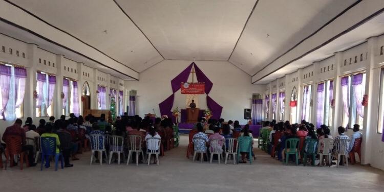 Operasi Lilin Turangga 2019 | Pengamanan Ibadah Mingguan Jelang Natal oleh Bripka Sulaiman di GKS Mamboro