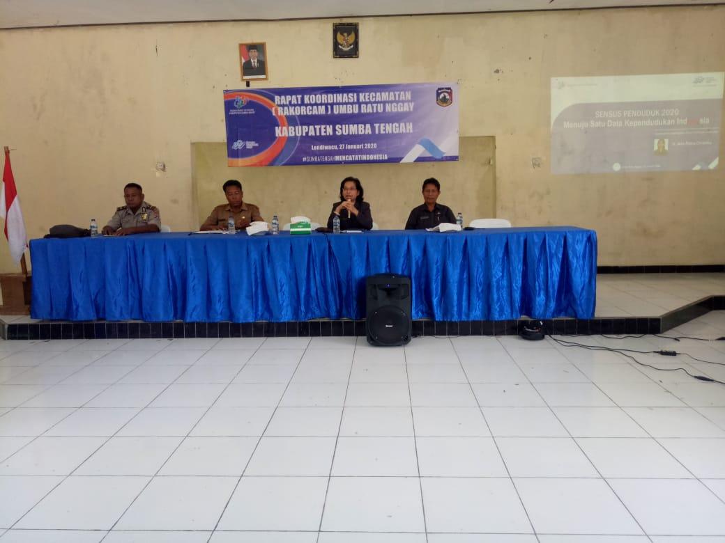 Kapolsek Umbu Ratu Nggay Hadiri RAKORCAM Dengan BPS