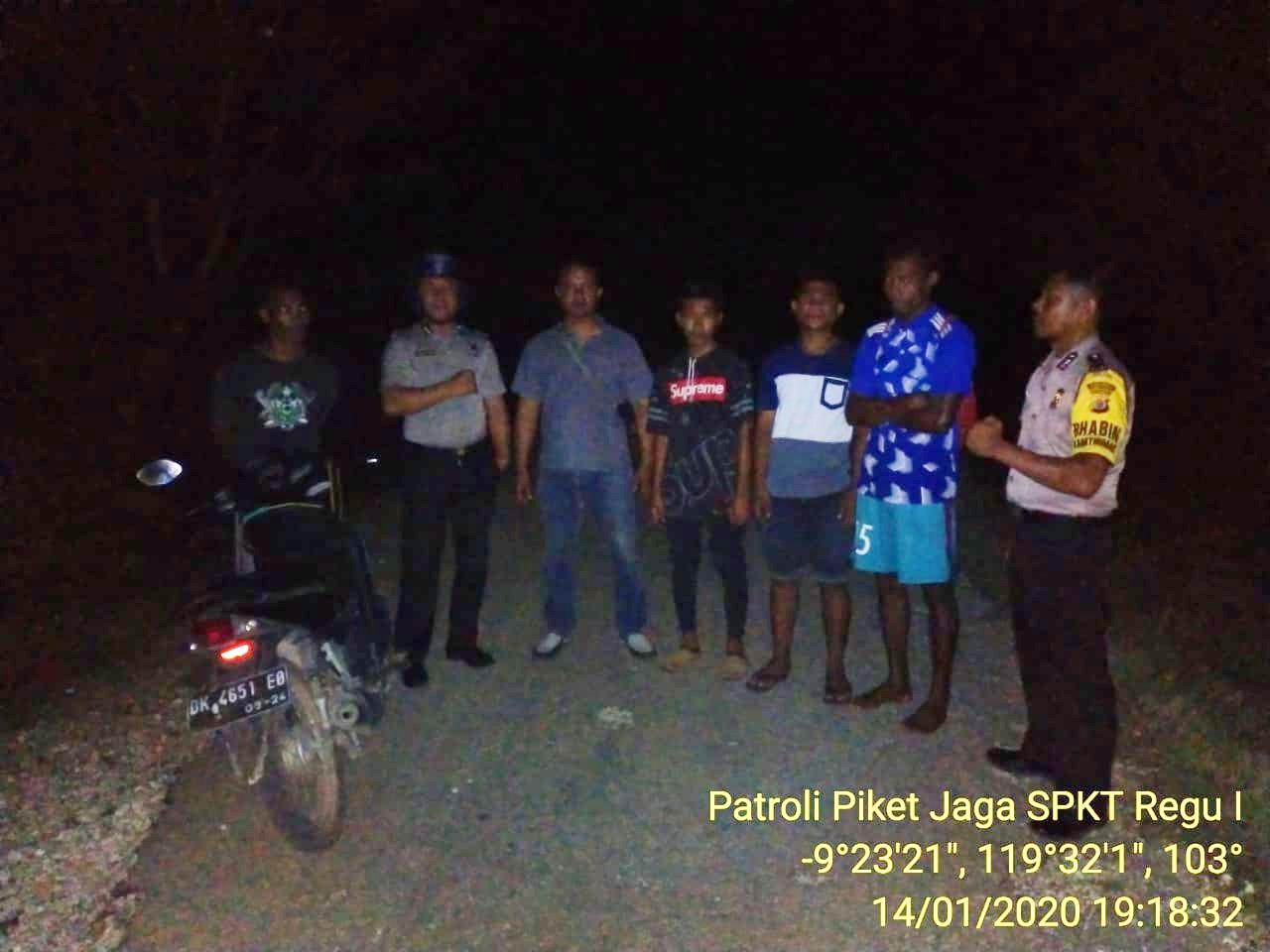 Cegah Situasi Kamtibmas Polsek Mamboro Tingkatkan Patroli Malam