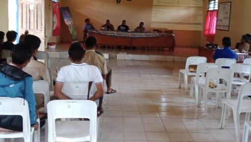 Peran Aktif Bhabinkamtibmas Desa Mbilur Pangadu pada Giat Penetapan APBDes 2020