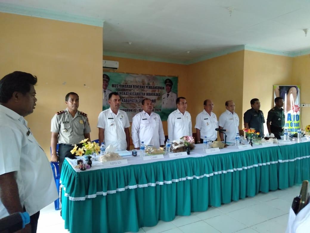 Dibuka oleh Bupati Sumba Barat, Kapolsek & Bhabinkamtibmas Polsek Wanukaka Hadiri Musrenbang Tingkat Kecamatan