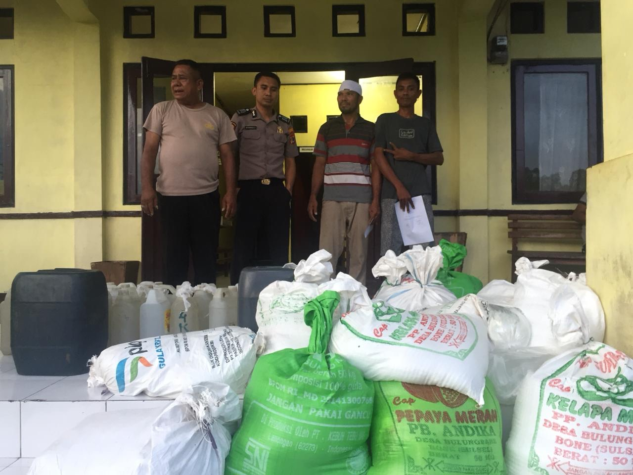 Ratusan Liter Miras Berhasil Diamankan Polsek Umbu Ratu Nggay Wilayah Hukum Polres Sumba Barat