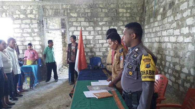 Hadiri Pelantikan Aparat Desa Bolubokat Barat, Brigpol Andreas Ajak Warga Pantau ADD